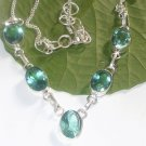 Apatite Fashion Gemstone Necklace- 925 Silver Handmade Choker Necklace Jewelry