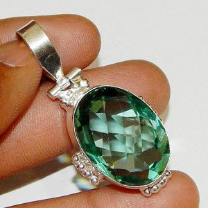 Amazing Look VINTAGE STYLE !!! Beautiful APATITE 925 SILVER PENDANT Jewelry