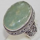 Father's Day Gift Natural Aquamarine Gemstone 925 Sterling Silver Overlay Ring 9