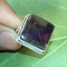 Amethyst Ring- 925 Silver Gemstone Square Shape Gemstone Ring Size 8.5