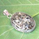Turritella Agate Gemstone Pendant- 925 Silver Handmade Pendant Jewelry