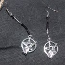 Pentacle and Broom Earrings