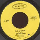 DONOVAN - Lalena / Aye My Love - 45rpm Record