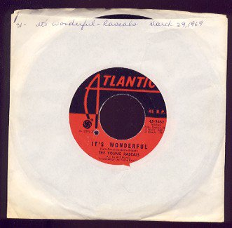 THE YOUNG RASCALS - It's Wonderful / Of Course - 45rpm Record
