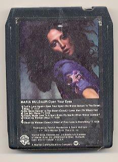 MARIA MULDAUR - Open Your Eyes - 8-track tape - 1979 (Warner Bros.)