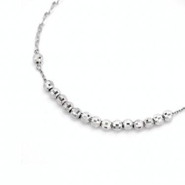 """14K Gold Beads Link Bracelet 6.5"""" Women Gift B05463B"""