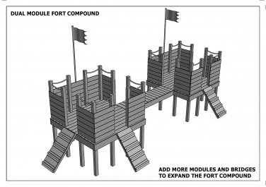 FORT KNOX CUBBY - PLAY HOUSE - Build With Your Children - Full Building Plans V2