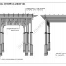 GRAPE VINE ENTRANCE ARBOR - FRONT GATE ENTRANCE V1 - Full Building Plans 2D & 3D