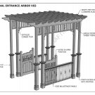 GRAPE VINE ENTRANCE ARBOR - WITH GATES & BALUSTRADE V3 - Full Building Plans