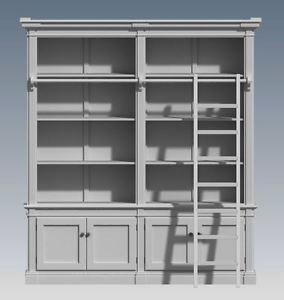 FRENCH PROVINCIAL WALL STORAGE UNIT 2 Module - Make Ur Own & SAVE - Full  Plans