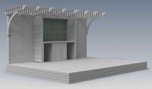 OUTDOOR ENTERTAINMENT DECK & BBQ PERGOLA / PATIO - V01  (Building Plans)