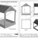 SAND PIT WITH SHADE COVER FROM SUN & RAIN - PLAY TIME ! - ( Building Plans V01 )