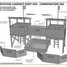 CUBBY HOUSE / FORT / SAND PIT- COMBO V2 - Build With Your Kids - Building Plans