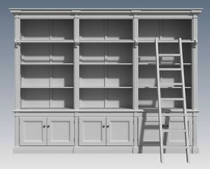 FRENCH PROVINCIAL WALL STORAGE UNIT- Make Your Own & SAVE $$$  (Building Plans)