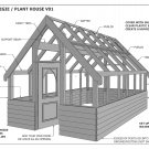 GARDEN HOUSE / GLASS HOUSE - GROW VEGIES & PLANTS - V01 - Building Plans 3D & 2D