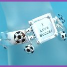 Soccer Bracelet with Picture Frame