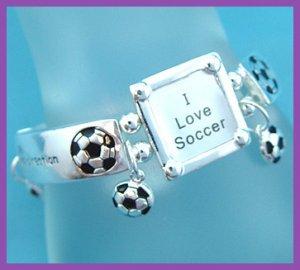 Soccer Bracelet with Picture Frame