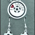 Soccer Pendant & Matching Earrings