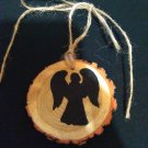 Angel Rustic Wooden Ornament (EC00)