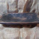 Primitive Rustic Wood Dough Trench Bowl #9 Walnut OOAK (EC1260-7600)
