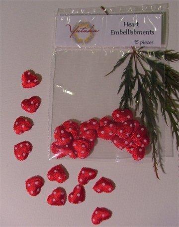 fabric heart embellishment