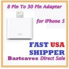8 Pin to 30 Pin USB Cable Adapter Converter lot iPhone 5/iPad 4/Mini/iPod Touch