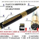 USA Mini 4GB HD HIDDEN Pen Camera Pen Cam Mini DV DVR SPY Pen NANNY USB  Camera