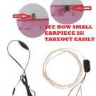 TEST SPY DEVICE Hidden Ear Piece Bug Device Covert  Wireless Earphone Cell Phone