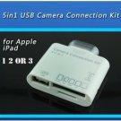 30 PIN 5 in1 USB Camera Connection Kit SD TF Card Reader Adapter iPad 1 2 3 MINI