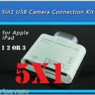 5x 30 PIN 5 in1 USB Camera Connection Kit SD TF Card Reader Adapter iPad 1 2 3