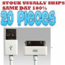 20 x 30 pin USB Sync Data Charging Charger Cable iPhone 4 4S 4G 4th 3 3G 3GS USA