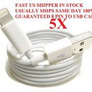 USSHIP 6 FOOT 8 Pin USB Cable Charging Data iPhone 5 5G 5S iTouch Nano iPod LOT