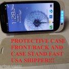 US BLACK  3200Mah Extended Battery Case w/ Leather Flip guard Galaxy S III S3