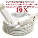 8 Pin USB Cable Charger Charging Data iPhone 5 5G 5S iTouch Nano iPod LOT USA