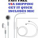 USA Wholesale 5X1 Earphone Headset remote Mic Volume Control iPhone4 4S IPODS!!