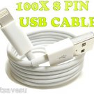 USA 100 PCS 8 Pin USB Data Sync Charger Cable Apple iPhone 5 5G 5STravel Battery