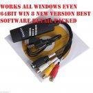EasyCAP DC60 USB 2.0 all Windows 8 64bit TV DVD VHS Video Audio AV Capture USA