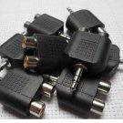 LOT 3.5mm Audio Headphones Stereo Plug Male 2 RCA Jack Female Splitter Adapter