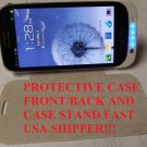 BLACK 3200Mah Extended Battery Case w/Leather Flip guard Galaxy S III Samsung S3