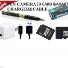 4GB UPTO 16GB USA Mini HD HIDDEN Pen Camera Pen Cam Mini DV DVR SPY NANNYCAM FBI