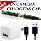 &CHARGER USA Mini 16GB HD HIDDEN Pen Camera Pen Cam Mini DV DVR SPY Pen NANNYCA