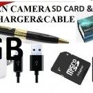 USA Mini UPTO 16GB HD HIDDEN Pen Camera Pen Cam Mini DV DVR SPY Pen NANNYCAM FBI