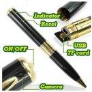 16GB SUPPORT Mini HD HIDDEN Pen Camera Pen Cam Mini DV DVR SPY Pen NANNY USB