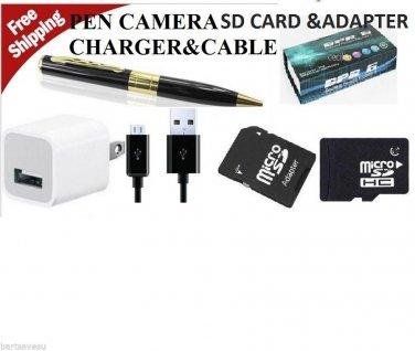 2GB USA Mini HD HIDDEN Pen Camera Pen Cam Mini DV DVR SPY Pen NANNY USB FBI CIA
