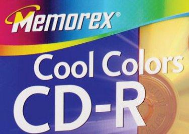 4 Memorex Cool Colors CD-R Discs