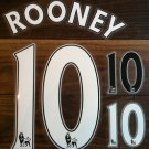 ROONEY 10 MANCHESTER UNITED HOME 2013 2014 NAME NUMBER SET NAMESET KIT PRINT