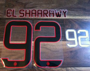 EL SHAARAWY 92 MILAN THIRD 2013 2014 NAME NUMBER SET NAMESET KIT PRINT FOOTBALL