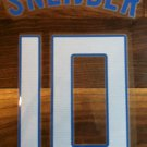SNEIJDER 10 HOLLAND AWAY 2013 2014 NAME NUMBER SET NAMESET KIT PRINT FOOTBALL