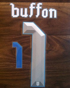 BUFFON 1 ITALY HOME 2013 2014 NAME NUMBER SET NAMESET KIT PRINT FOOTBALL ITALIA