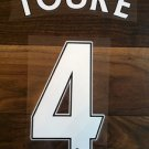 KOLO TOURE 4 LIVERPOOL HOME 2013 2014 NAME NUMBER SET NAMESET KIT PRINT